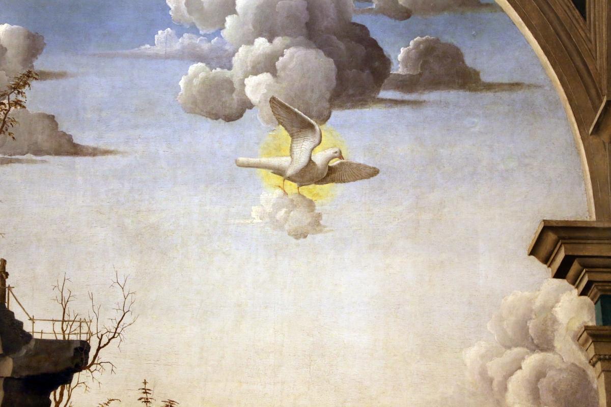 Marco palmezzano, annunciazione, 1495-97 ca., da s.m. del carmine a forlì, 02 colomba - Sailko - Forlì (FC)