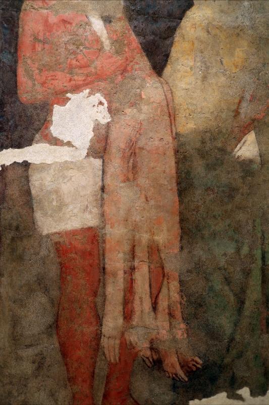 Scuola romagnola, santi bartolomeo apostolo e bernardo, 1390 ca., da s. mercuriale 02 pelle scorticata - Sailko - Forlì (FC)