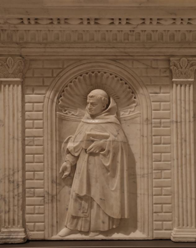 Antonio rossellino, sarcofago del beato marcolino amanni, 1458, da s. giacomo in s. domenico a forlì, santi domenicani 05 - Sailko - Forlì (FC)