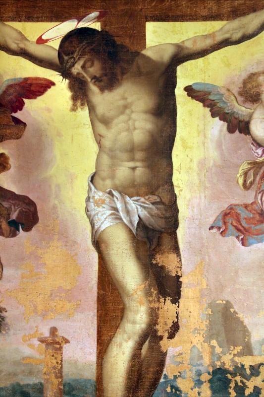 Livio agresti, crocifissione con due angeli, 1550-60 ca., da s. francesco grande a forlì 03 - Sailko - Forlì (FC)