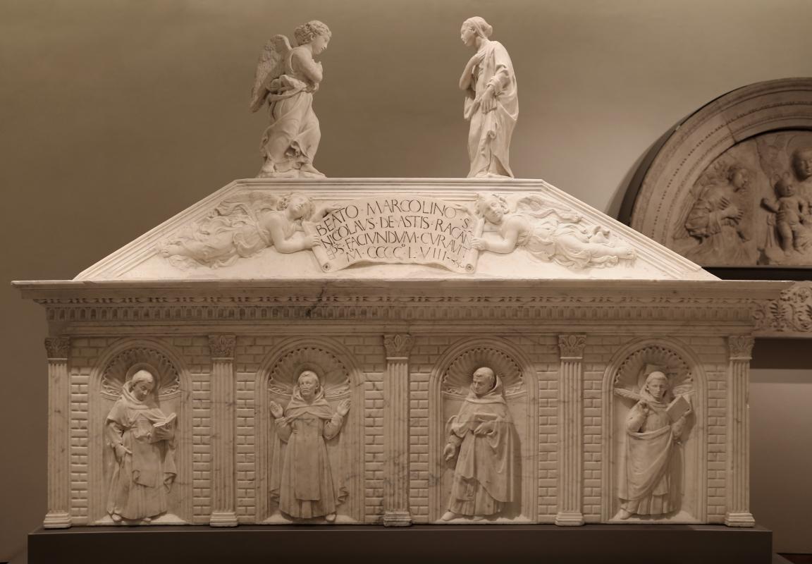 Antonio rossellino, sarcofago del beato marcolino amanni, 1458, da s. giacomo in s. domenico a forlì, 02 - Sailko - Forlì (FC)