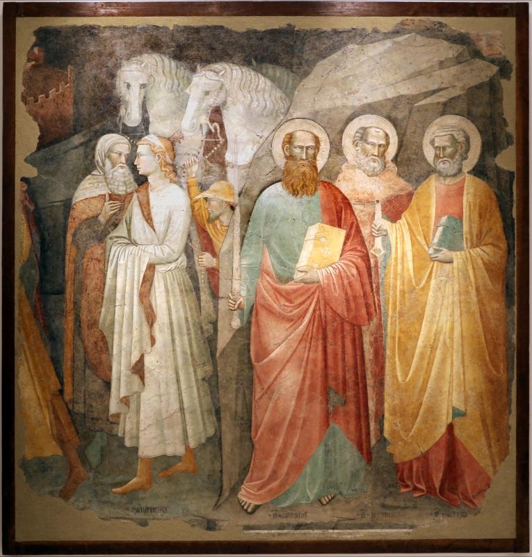 Augustinus, corteo dei magi e santi, xiv secolo, da s.m. assunta in laterano (o in schiavonia) a forlì 01 - Sailko - Forlì (FC)