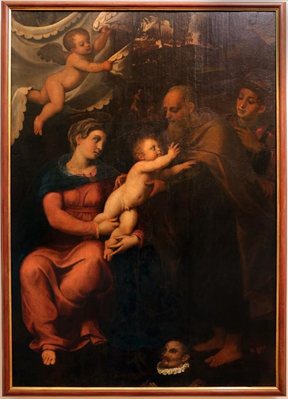 Francesco menzocchi, sacra famiglia con santo stefano e un committente, 1540-50 ca., da s.m. dei servi a forlì 01 - Sailko - Forlì (FC)