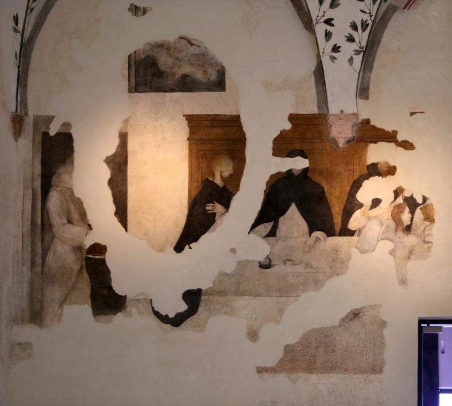 Girolamo Ugolini (attr.), san domenico e i confratelli serviti dagli angeli, 1520 ca. 02 - Sailko - Forlì (FC)