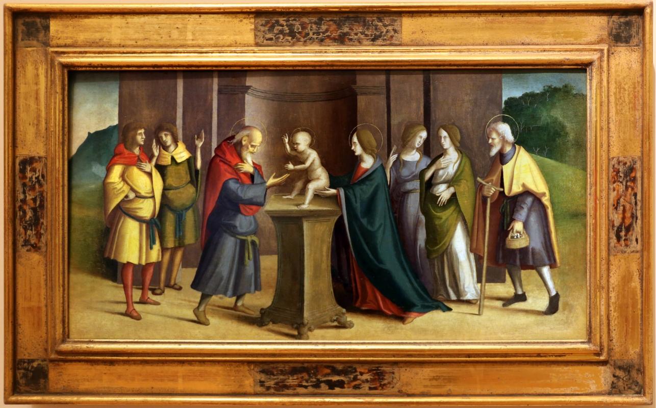 Marco palmezzano, riquadri di predella con presentazione di gesù al tempio - Sailko - Forlì (FC)
