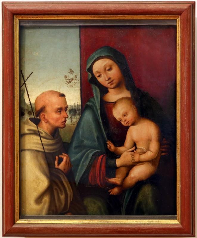 Lorenzo costa, madonna col bambino e san francesco - Sailko - Forlì (FC)