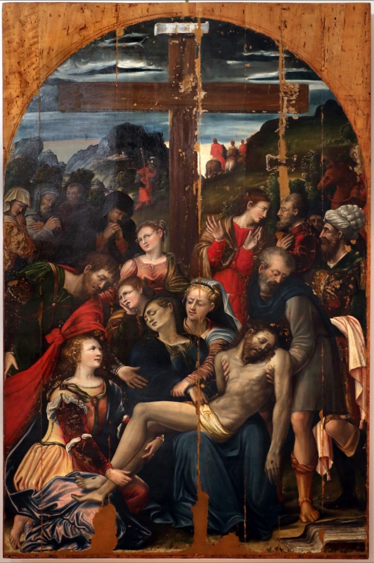 Giulio avezuti detto il ponteghino, deposizione dalla croce, 1525-50 ca., da s. filippo neri a forlì 01 - Sailko - Forlì (FC)