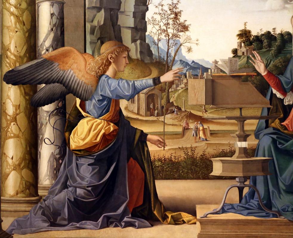 Marco palmezzano, annunciazione, 1495-97 ca., da s.m. del carmine a forlì, 03 - Sailko - Forlì (FC)