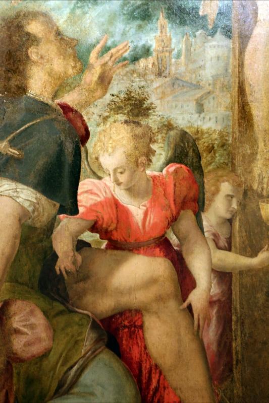 Pier paolo menzocchi, crocifissione coi ss. rocco, bernardino e angli, 1570 ca., dal duomo di forlì, 04 angeli - Sailko - Forlì (FC)