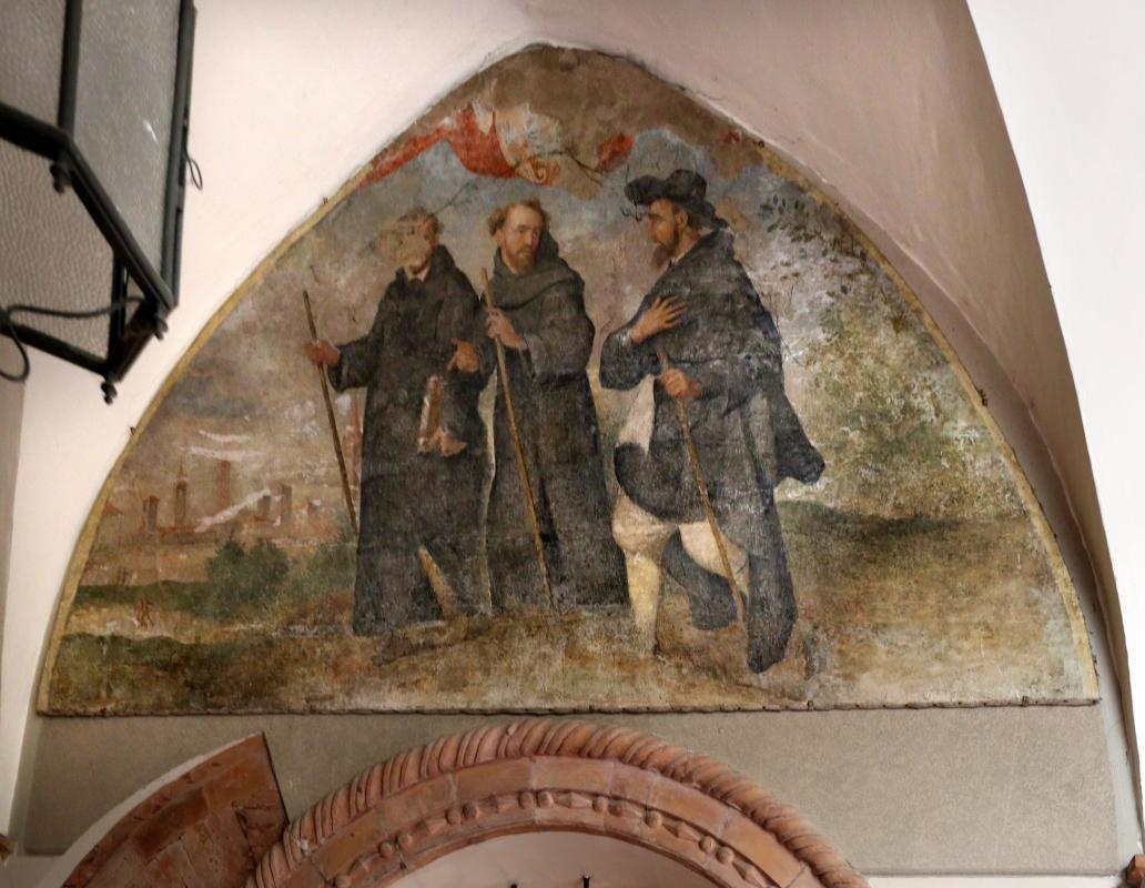Forlì, santa maria dei servi o san pellegrino, tre pellegrini, xvi secolo - Sailko - Forlì (FC)