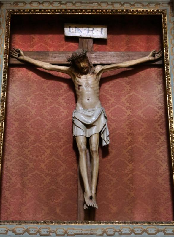 Forlì, santa maria dei servi o san pellegrino, interno, crocifisso ligneo del 1390-1410 ca. 02 - Sailko - Forlì (FC)