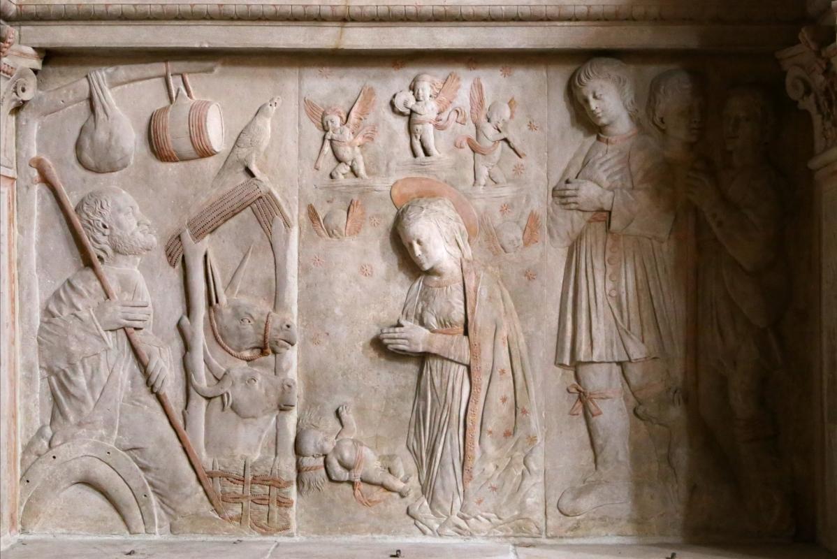 Tommaso fiamberti, monumento funebre di luffo numai, con rilievi di giovanni ricci, 1502-09, 04 adorazione del bambino 1 - Sailko - Forlì (FC)