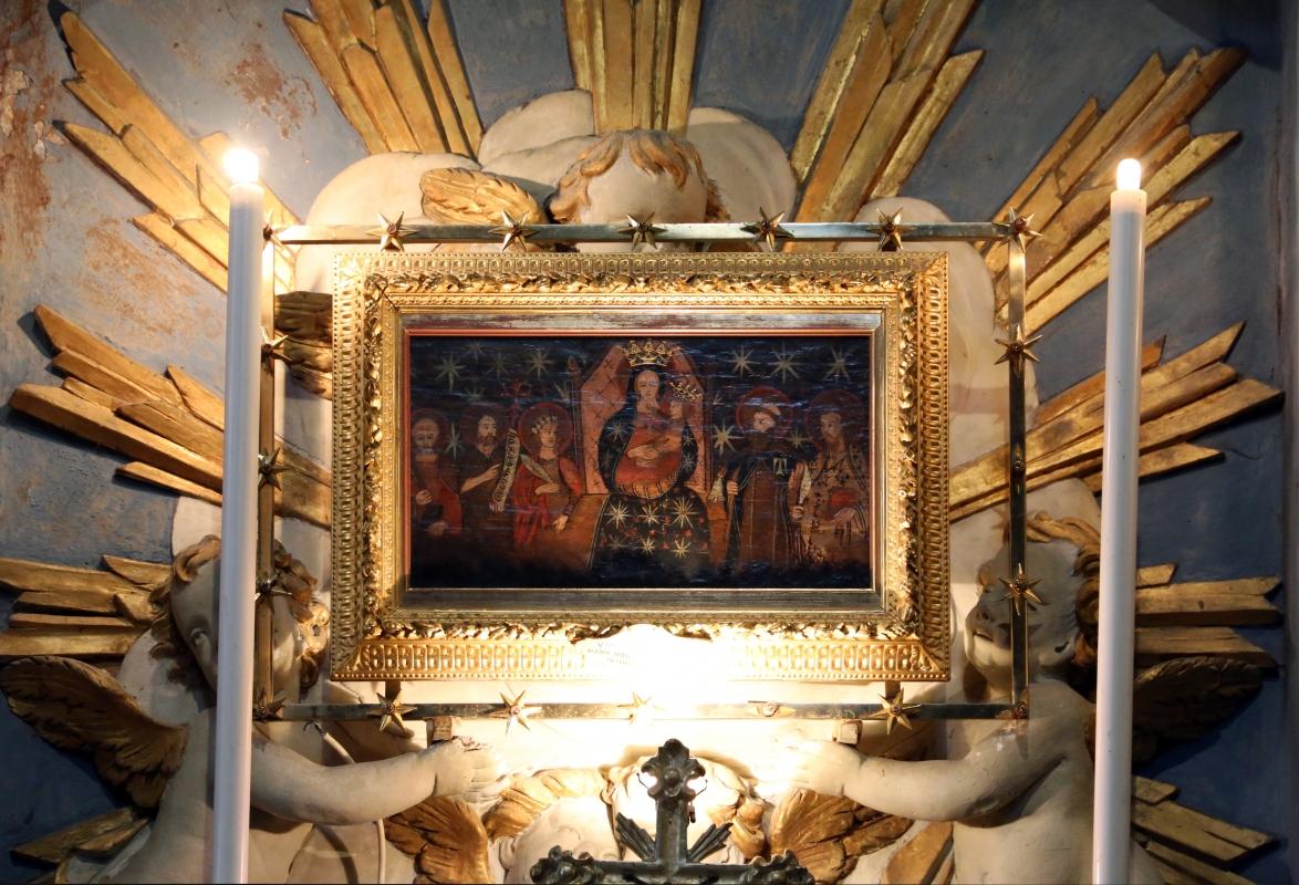 Pianetto (galeata), santa maria dei miracoli, interno, tempietto della madonna, madonna miracolosa del xv secolo 1 - Sailko - Galeata (FC)