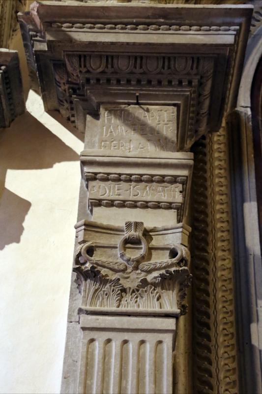 Pianetto (galeata), santa maria dei miracoli, interno, iscrizione presso altare della visitazione 1 - Sailko - Galeata (FC)