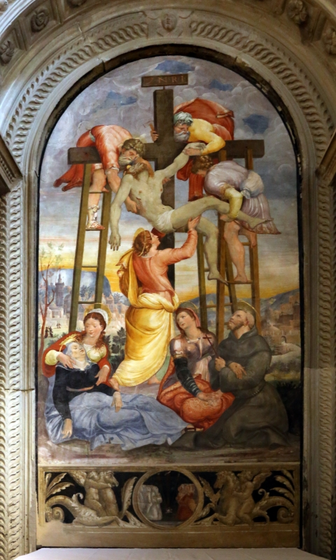 Scuola del vasari, deposizione dalla croce, 1550-1600 ca. 01 - Sailko - Galeata (FC)