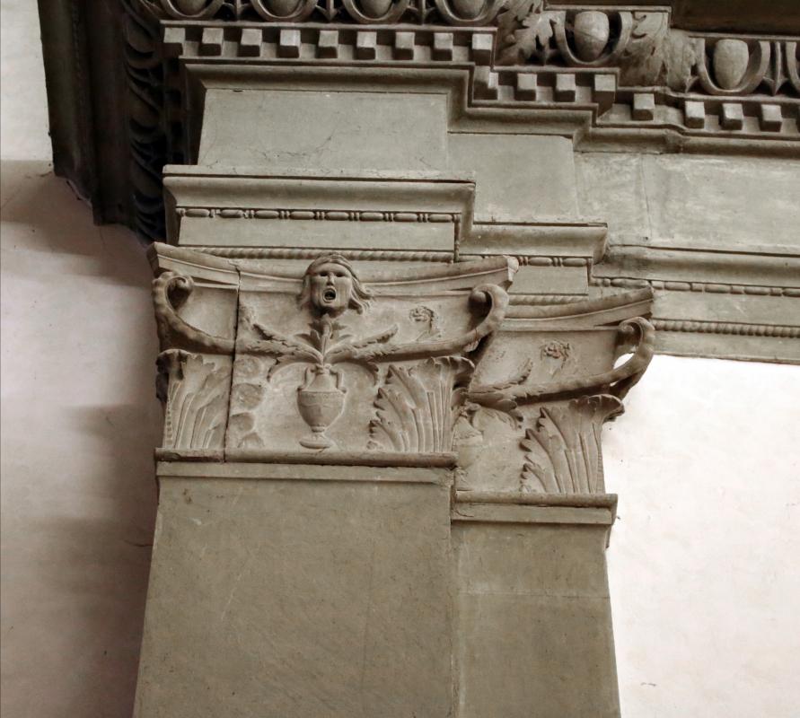Pianetto (galeata), santa maria dei miracoli, interno, peducci con anfore e mascheroni - Sailko - Galeata (FC)
