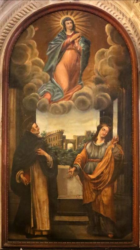 Italia centrale, assunta tra i ss. vincenzo ferrer e marta, 1700-50 ca. 02 - Sailko - Galeata (FC)