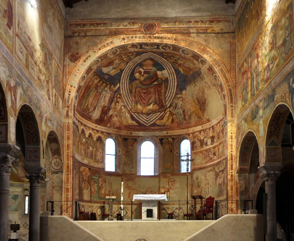 Vitale da bologna e aiuti, cristo in maestà, angeli, santi e storie di s. eustachio, 1351, 01 - Sailko - Codigoro (FE)