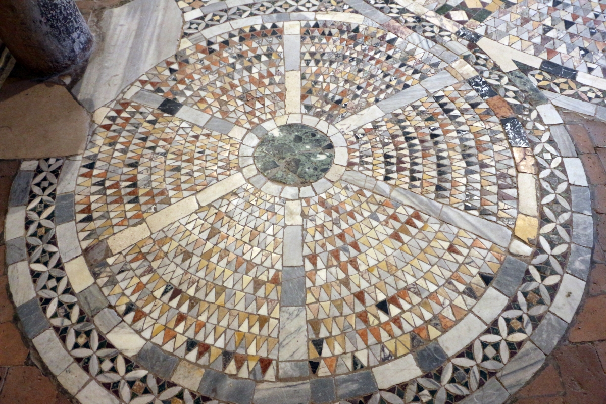 Pomposa, abbazia, interno, pavimento 02 - Sailko - Codigoro (FE)