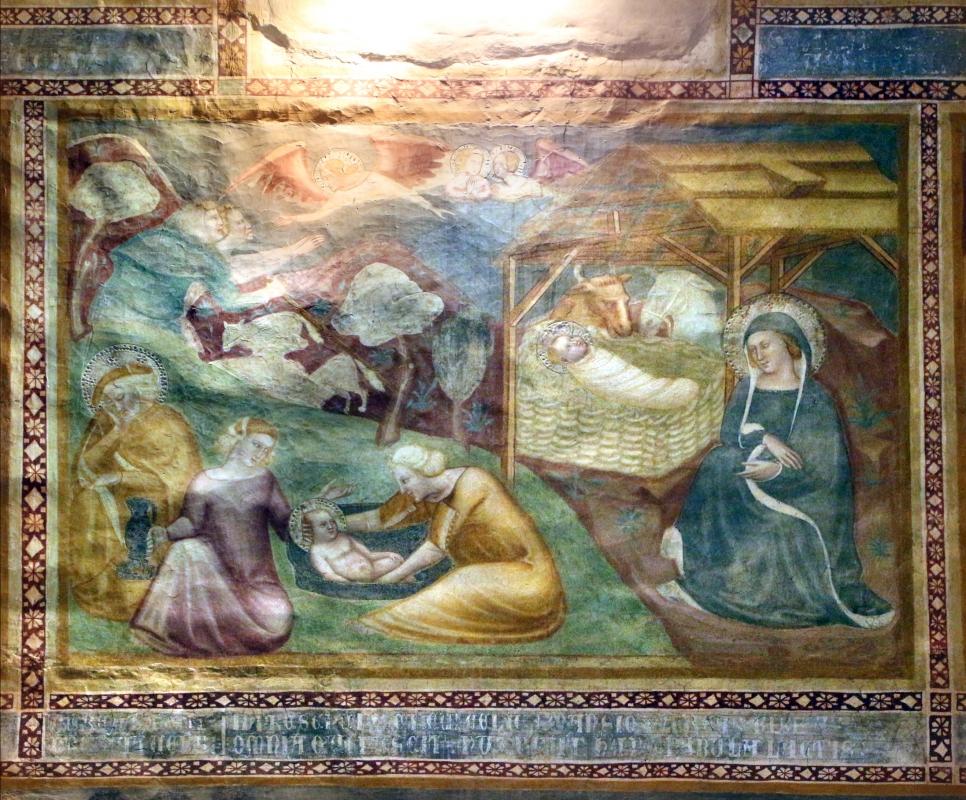 Scuola bolognese, ciclo dell'abbazia di pomposa, 1350 ca., nuovo testamento, 02 natività - Sailko - Codigoro (FE)