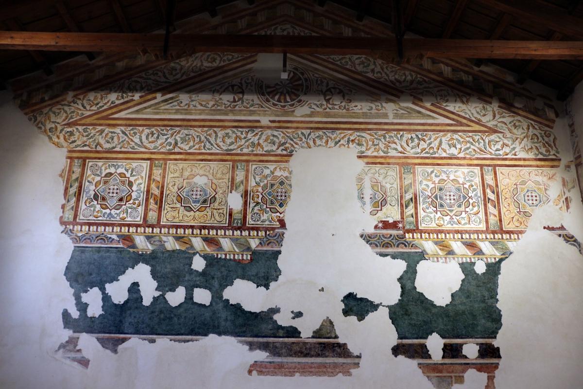 Pomposa, abbazia, refettorio, affreschi giotteschi riminesi del 1316-20, ornati 01 - Sailko - Codigoro (FE)