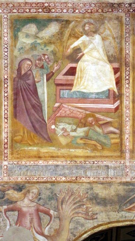 Scuola bolognese, ciclo dell'abbazia di pomposa, 1350 ca., nuovo testamento, 16 pie donne al sepolcro - Sailko - Codigoro (FE)