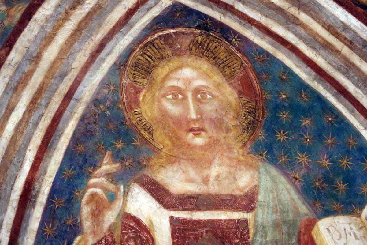 Vitale da bologna e aiuti, cristo in maestà, angeli, santi e storie di s. eustachio, 1351, 07 - Sailko - Codigoro (FE)