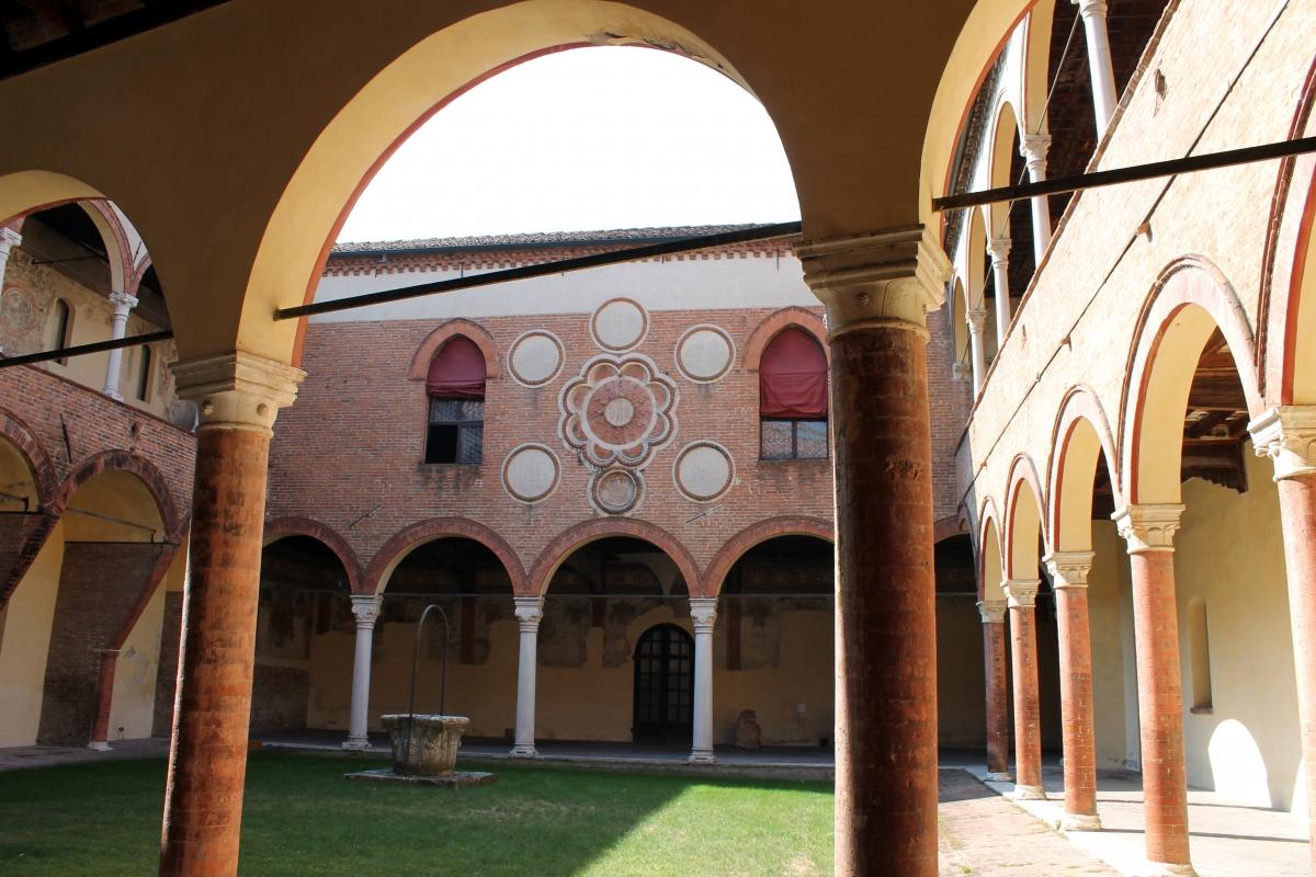 Vista su cortile d'onore - Manuela Mattana - Ferrara (FE)