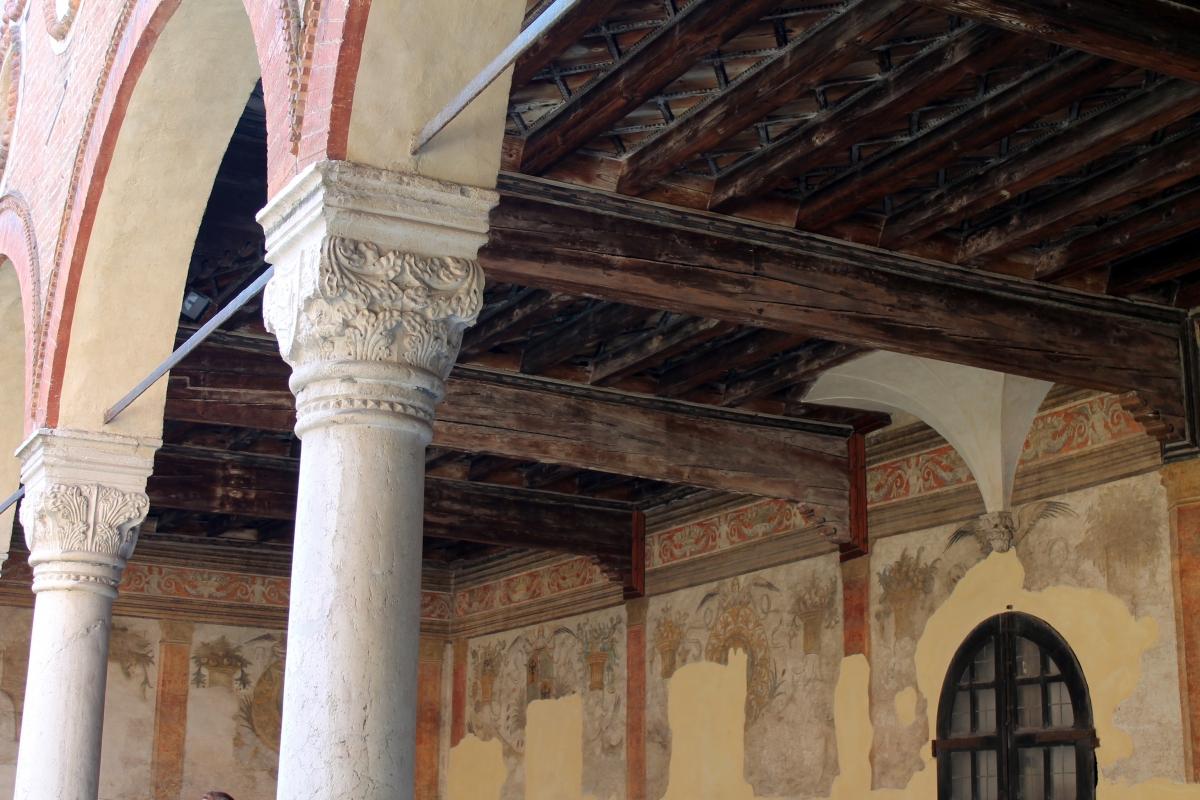 Particolare soffitto ligneo loggiato piano terra - Manuela Mattana - Ferrara (FE)