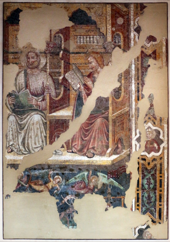 Artista padano, santi e dottori della chiesa, 1390 ca., da s. caterina martire a ferrara 2 - Sailko - Ferrara (FE)