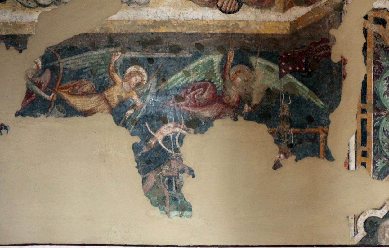 Artista padano, angeli che cacciano i dannati, 1390 ca., da s. caterina martire a ferrara - Sailko - Ferrara (FE)