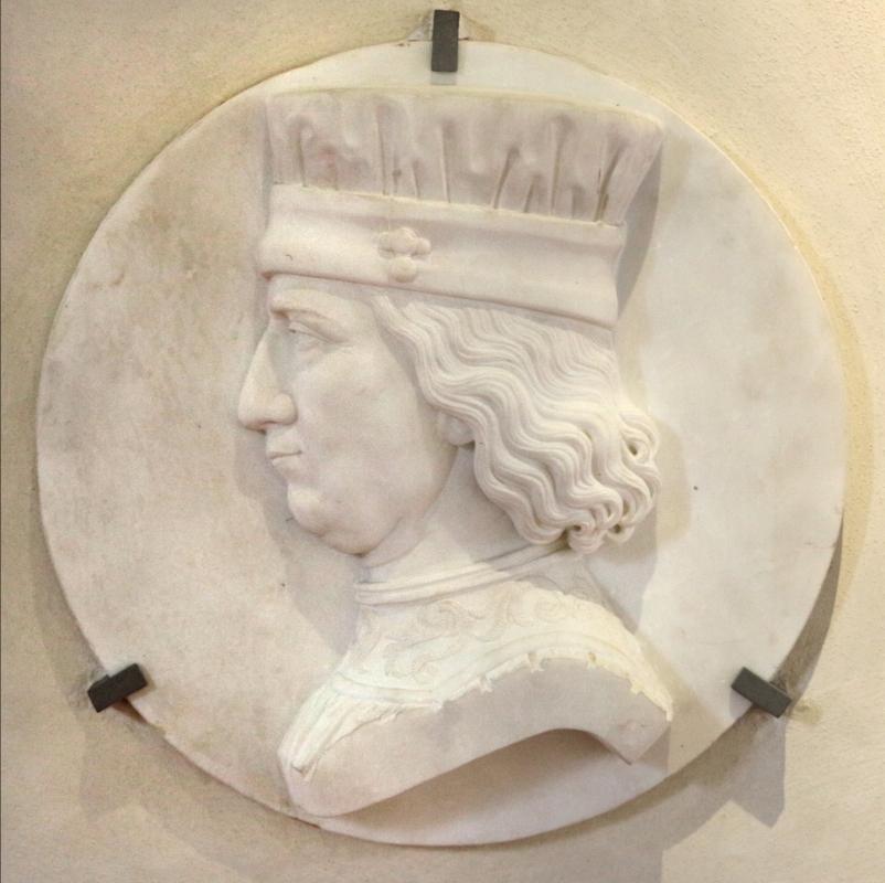 Ambrogio zuffi, medaglione con ritratto di profilo di borso d'este, xix secolo - Sailko - Ferrara (FE)