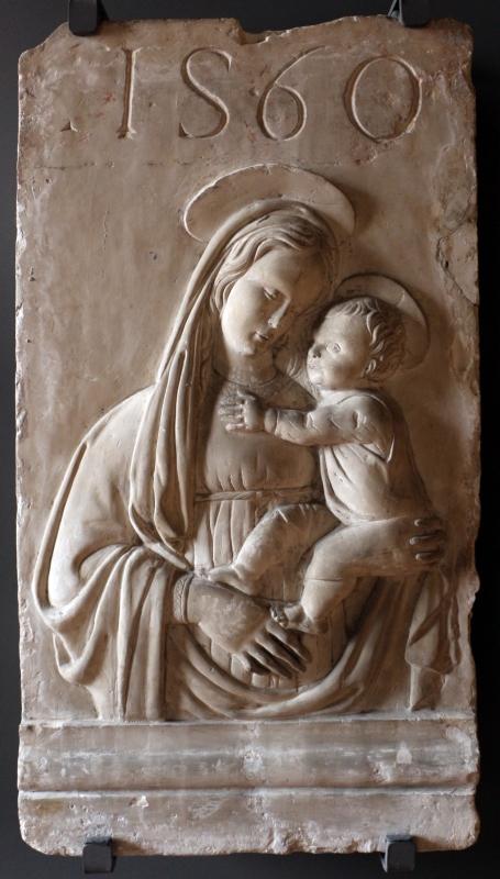 Madonna col bambino in gesso, 1560 circa o calco da orginale antico - Sailko - Ferrara (FE)