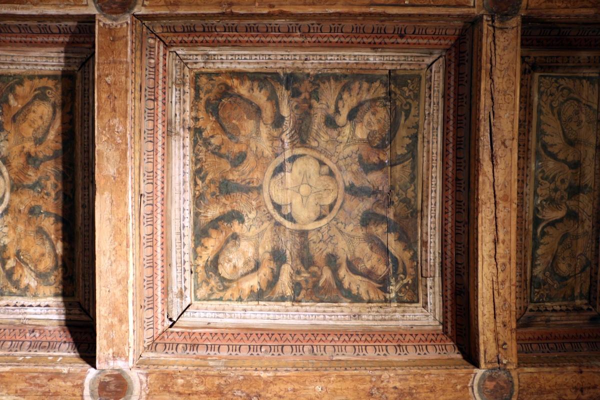 Casa romei, studiolo, soffitto con casettoni lignei decorati da xilografie su carta incollate, attr. a francesco del cossa 02 - Sailko - Ferrara (FE)