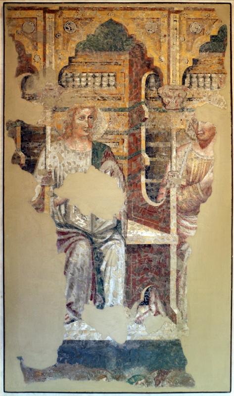 Artista padano, santi e dottori della chiesa, 1390 ca., da s. caterina martire a ferrara - Sailko - Ferrara (FE)