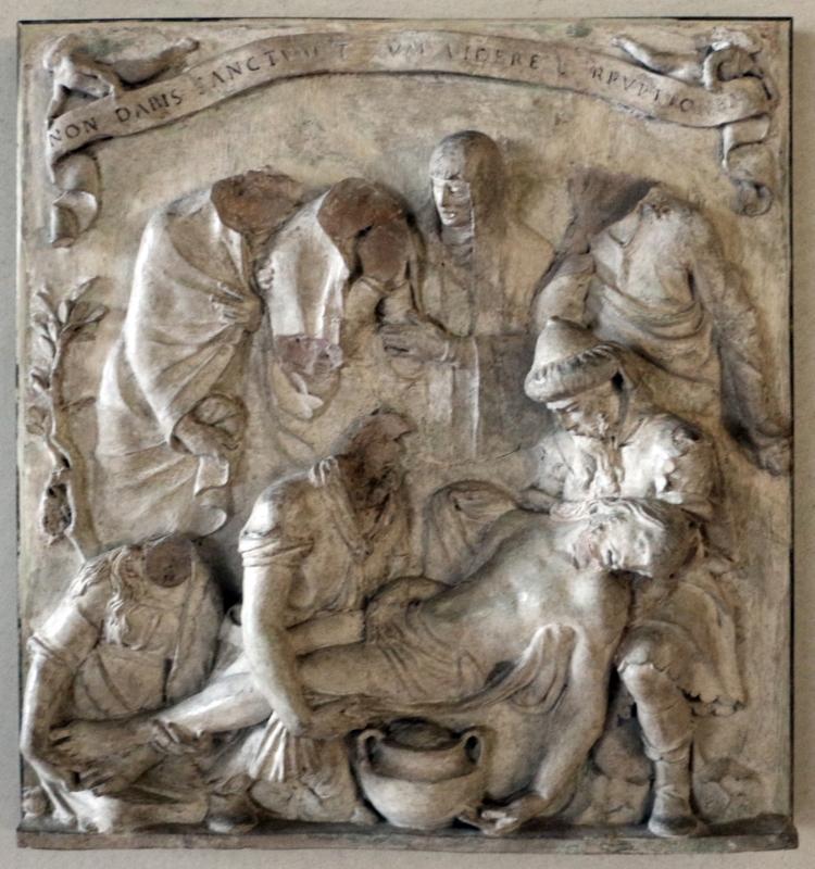 Alfonso lombardi (attr.), deposizione di cristo nel sepolcro, xvi secolo - Sailko - Ferrara (FE)