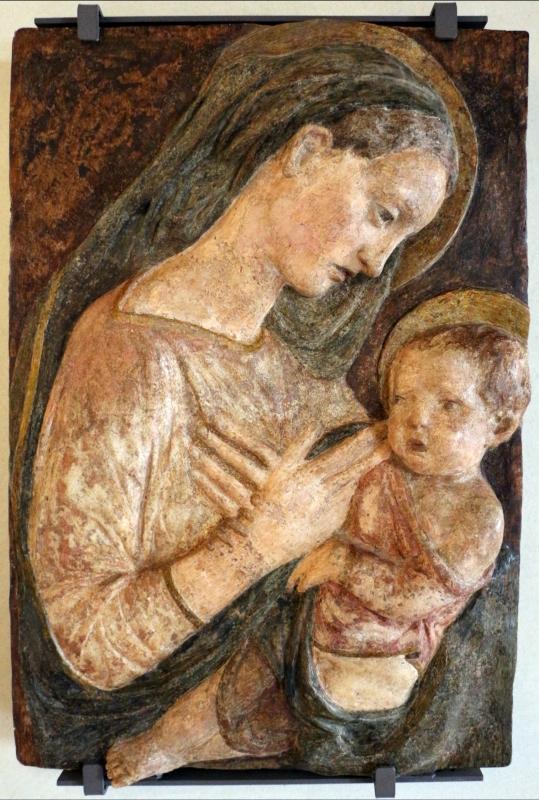 Scuola di donatello, madonna col bambino in gesso policromo, 1460 ca - Sailko - Ferrara (FE)
