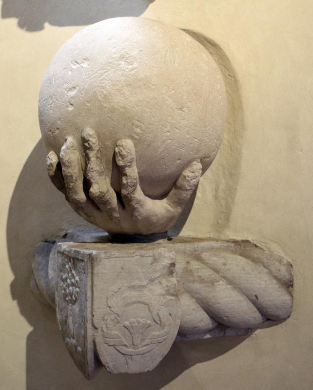 Giacomo de maria, frammenti della statua colossale di napoleone I, da piazza ariostea, 1810, 02 mano con globo - Sailko - Ferrara (FE)