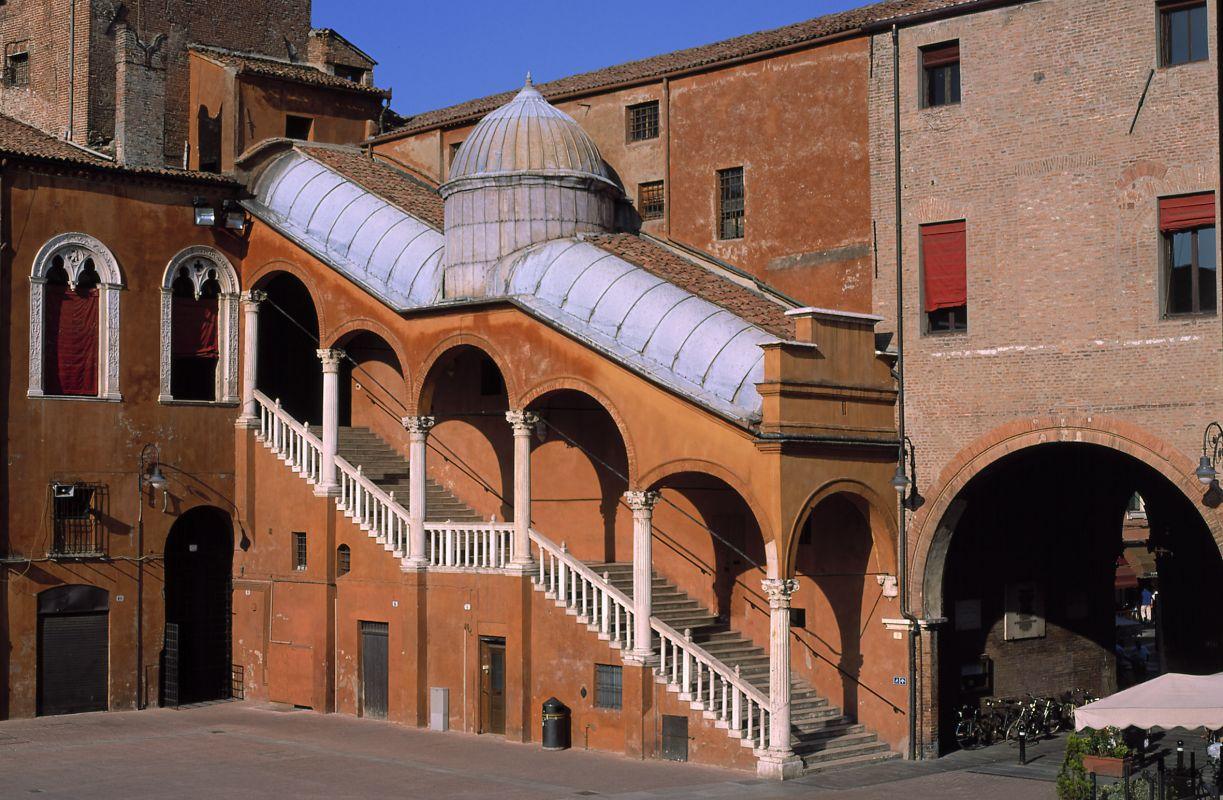 Piazza Municipale. Scalone monumentale - Baraldi - Ferrara (FE)