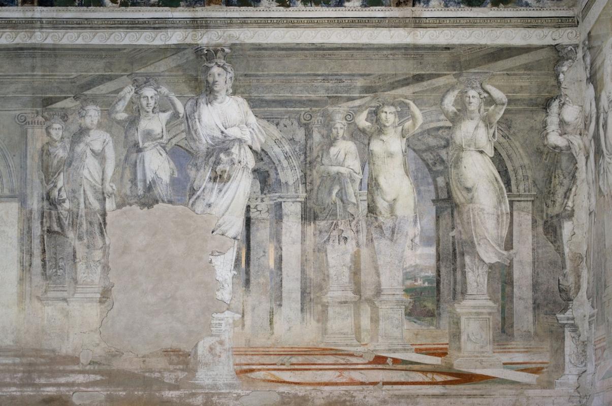 Sala della Vigna affreschi 1 - PAOLO BENETTI - Voghiera (FE)