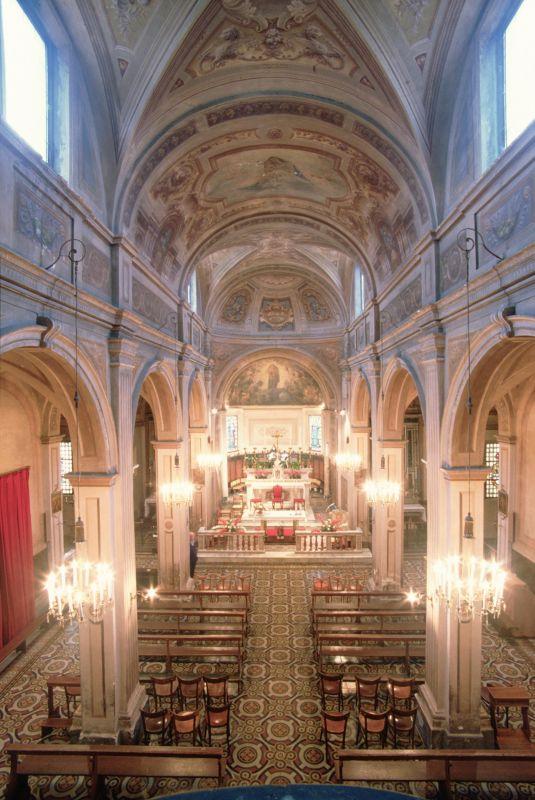 Chiesa della Natività di Maria. Navata centrale - Samaritani - Voghiera (FE)