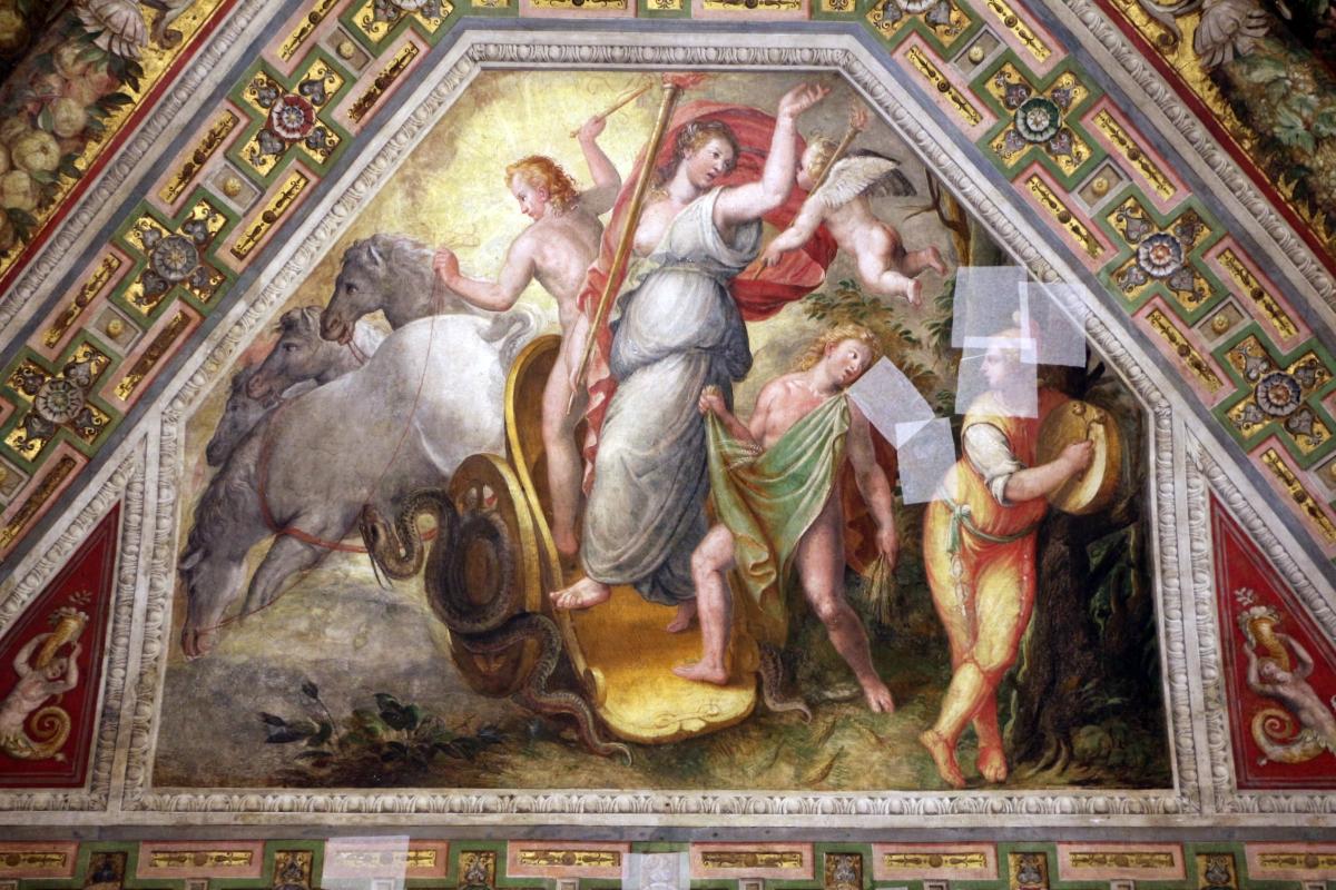 Bastianino, ludovico settevecchi e leonardo da brescia, sala dell'aurora nel castello estense, ante 1575, 04 tramonto (crepuscolo) - Sailko - Ferrara (FE)