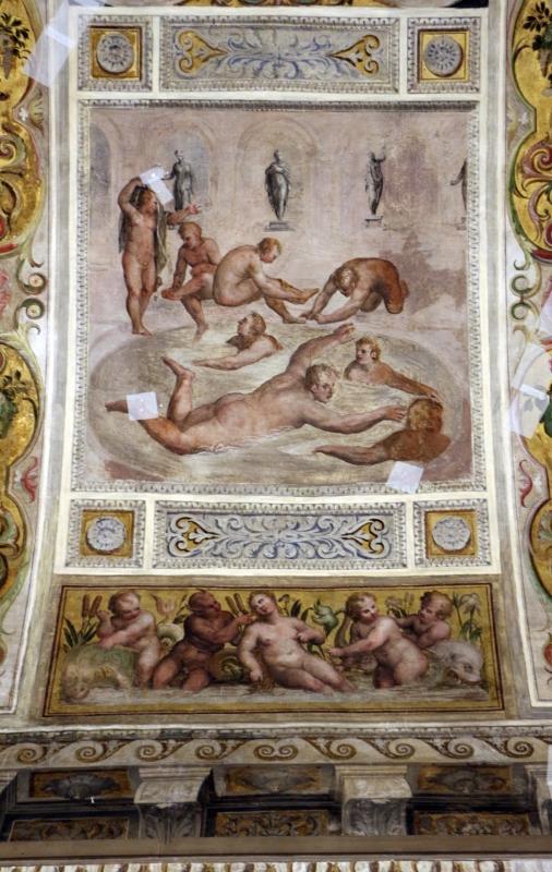 Bastianino, ludovico settevecchi e leonardo da brescia, salone dei giochi nel castello estense, 1570, 05 nuoto - Sailko - Ferrara (FE)