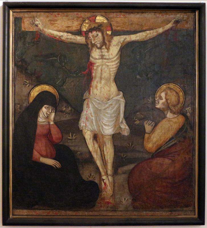 Ambito di giovanni martorelli (emiliano o lombardo), crocifissione, 1400-50 ca - Sailko - Ferrara (FE)