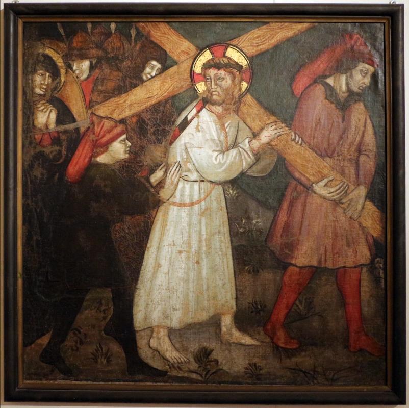 Ambito di giovanni martorelli (emiliano o lombardo), salita al calvario, 1400-50 ca - Sailko - Ferrara (FE)