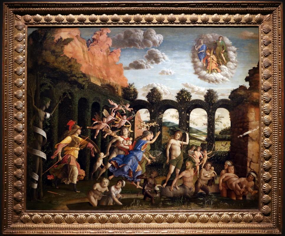 Andrea mantegna, minerva scaccia i vizi dal giardino delle virtù, 1497-1502 ca. (louvre) 01 - Sailko - Ferrara (FE)