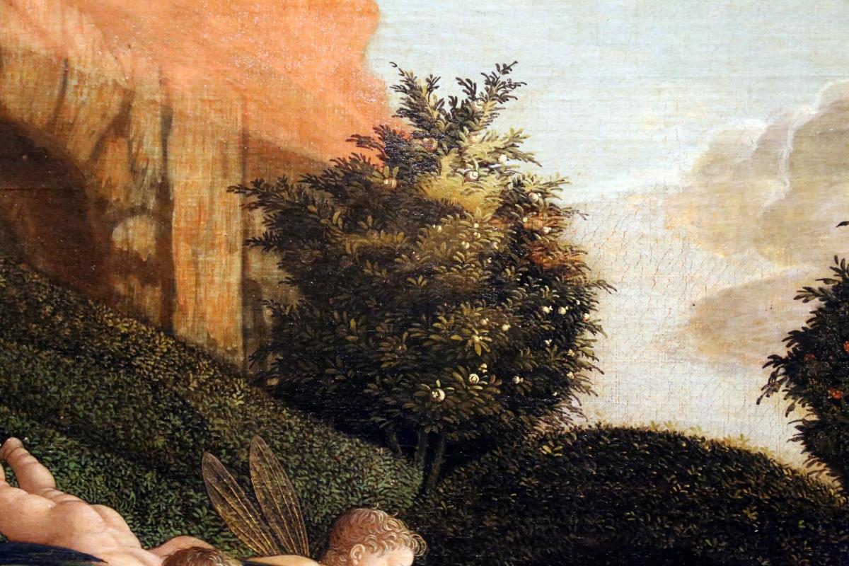 Andrea mantegna, minerva scaccia i vizi dal giardino delle virtù, 1497-1502 ca. (louvre) 05 - Sailko - Ferrara (FE)
