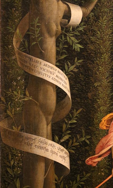 Andrea mantegna, minerva scaccia i vizi dal giardino delle virtù, 1497-1502 ca. (louvre) 10 - Sailko - Ferrara (FE)