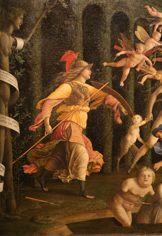 Andrea mantegna, minerva scaccia i vizi dal giardino delle virtù, 1497-1502 ca. (louvre) 12 - Sailko - Ferrara (FE)