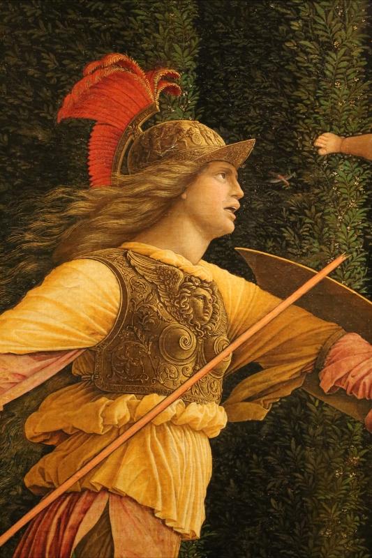 Andrea mantegna, minerva scaccia i vizi dal giardino delle virtù, 1497-1502 ca. (louvre) 13 - Sailko - Ferrara (FE)